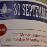 1ere messe solennelle de l'abbé Monfort Gillet - 30 sept. 2018